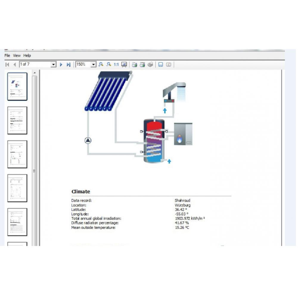 فایل تصویری آموزش محاسبه گرمایش خورشیدی با نرم افزار